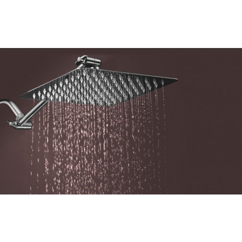 "8"" Stainless Steel Rainfall Shower Head	 with 11"" Extension Arm"