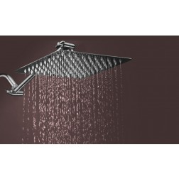 """8"""" Stainless Steel Rainfall Shower Head with 11"""" Extension Arm"""
